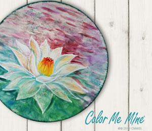 Chino Hills Lotus Flower Plate